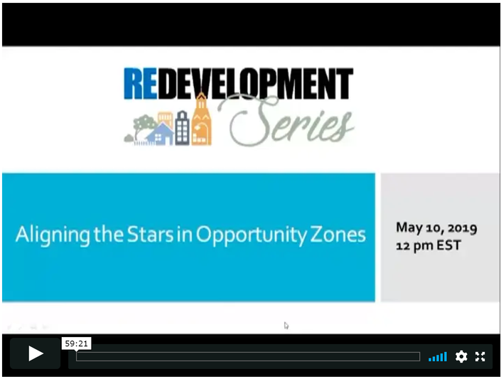 Redevelopment Series: Aligning the Stars in Opportunity Zones