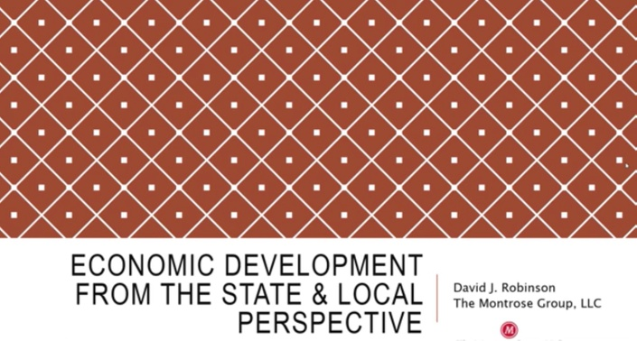 Redevelopment Series: Economic Development from the State and Local Perspective